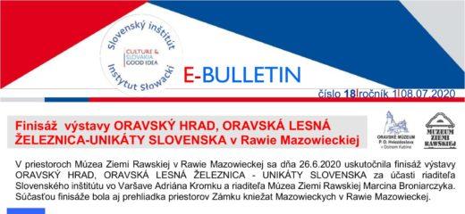 E-BULLETIN – Finisáž výstavy Oravský hrad, Oravská lesná železnica – unikáty Slovenska v Rawie Mazowieckiej