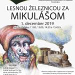 Plagát k podujatiu Lesnou železnicou za Mikulášom