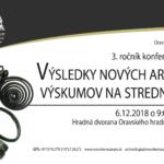 Výsledky nových archeologických výskumov na strednom Slovensku 2018 pozvánka