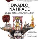 plagát k podujatiu divadlo na hrade 2019