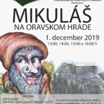 Plagát k podujatiu Mikuláš na Oravskom Hrade