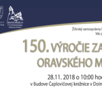 literarne 150. výročie Oravského múzea - konferencia pozvánka